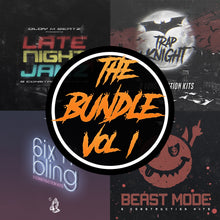 Load image into Gallery viewer, The Bundle Vol 1 - Sonic Sound Supply - drum kits, construction kits, vst, loops and samples, free producer kits, producer sounds, make beats