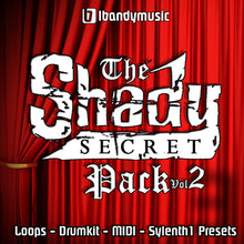 Load image into Gallery viewer, The Shady Secret Pack Vol2 - Sonic Sound Supply - drum kits, construction kits, vst, loops and samples, free producer kits, producer sounds, make beats