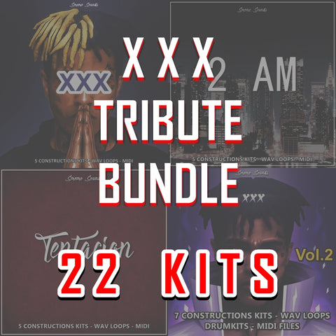 XXX TRIBUTE BUNDLE - Sonic Sound Supply - drum kits, construction kits, vst, loops and samples, free producer kits, producer sounds, make beats