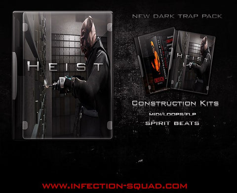 Heist - Sonic Sound Supply - drum kits, construction kits, vst, loops and samples, free producer kits, producer sounds, make beats