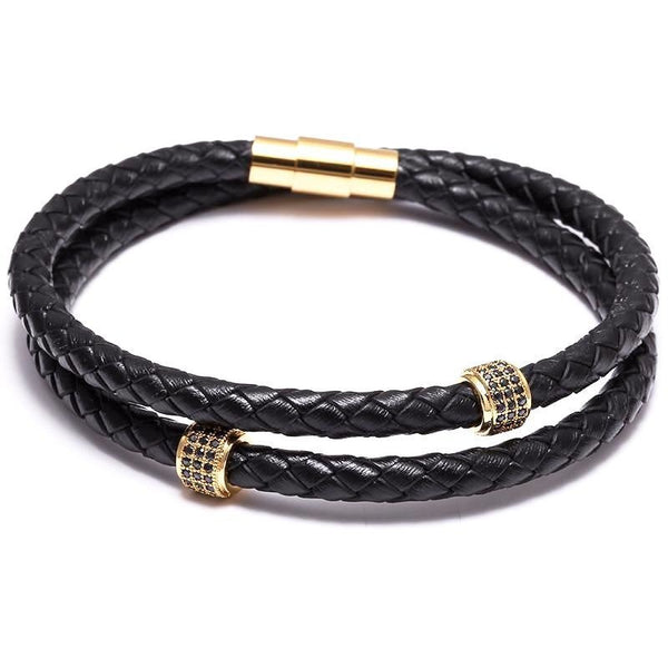 Twin Leather Bracelet