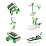 Transformable 6-in-1 Solar Power Robot