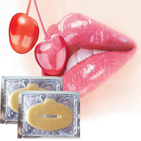 10PCS/ Set 24K Gold Powder Gel Collagen Lip Care and Repair