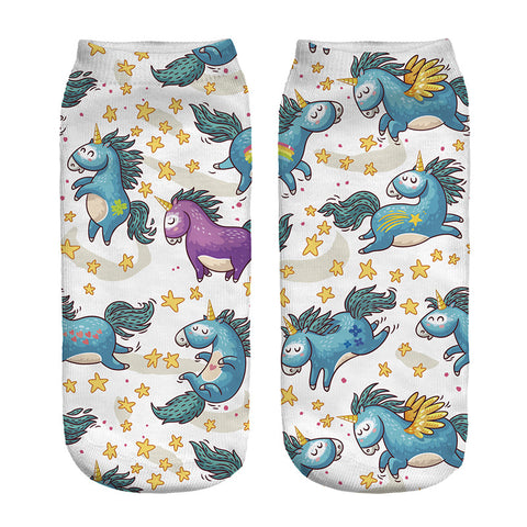 Blue Angel Unicorn Socks