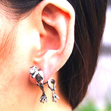 Gothic T-rex Earrings