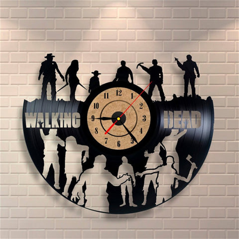 Walking Dead Vinyl Wall Clock