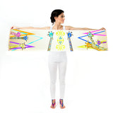 Women Colourful Giraffes - Long Scarf
