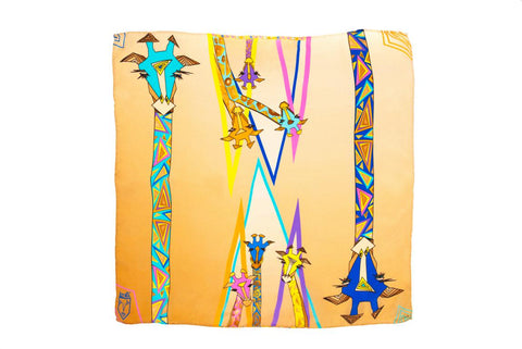Kids Colourful Giraffes - Square Scarf