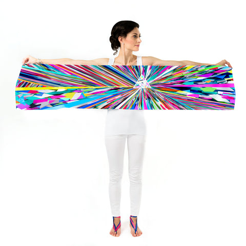 Women Colourful Rays - Long Scarf