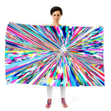 Women Colourful Rays - Oversized Scarf
