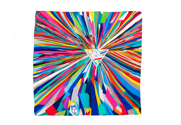 Women Colourful Rays - Square Scarf