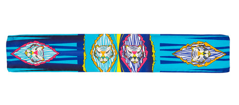 Men Colourful Tigers - Long Scarf