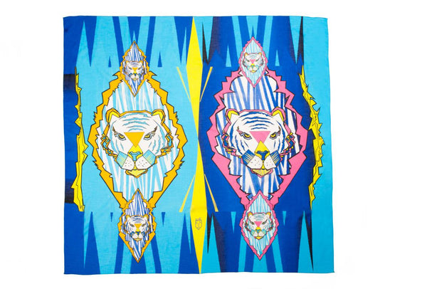 Women Colourful Tigers - Maxi Sarong Scarf