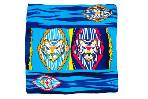 Kids Colourful Tigers - Pocket Square Scarf