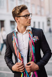 Men Colourful Rays - Square Scarf