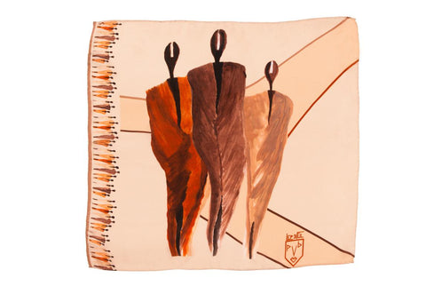 Men Desert People - Square Scarf