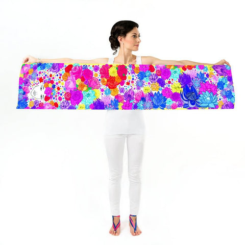 Women Flower Lover - Long Scarf