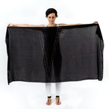 Women Personalised Black - Oversized Scarf