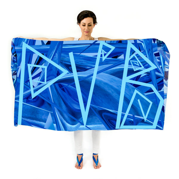 Women Personalised Ocean Waves - Oversized Scarf