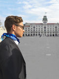 Men PersonalisedOcean Waves - Square Scarf