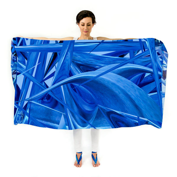 Women Ocean Waves - Oversized Scarf