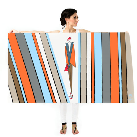Women Stripe Addict - Oversized Scarf
