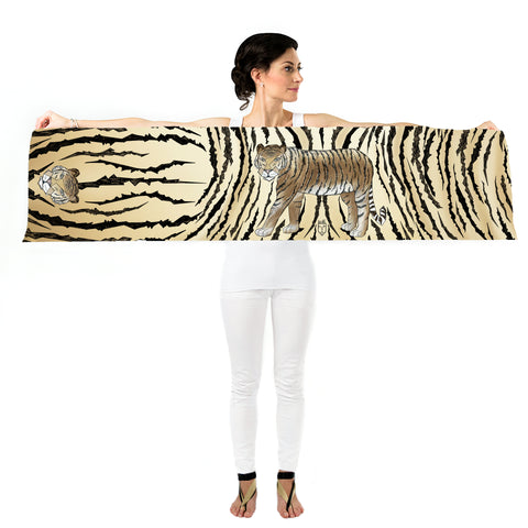 Women Wild Tiger - Long Scarf