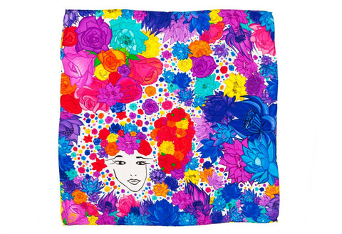 Kids Flower Lover - Square Scarf