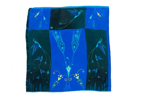 Kids Humming Birds - Square Scarf