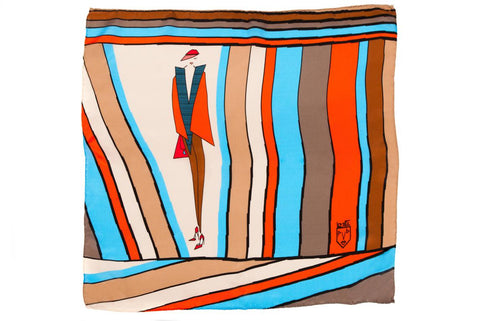Women Stripe Addict - Pocket Square Scarf