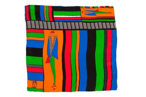 Men Stripe Gang - Pocket Square Scarf