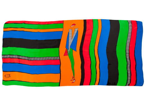 Men Stripe Gang - Oversized Scarf