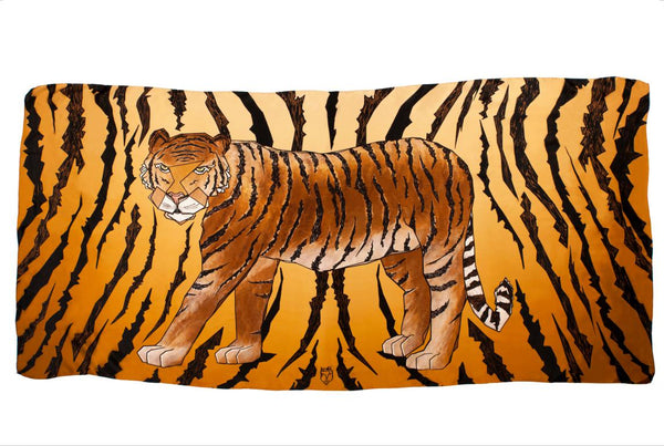 Men Wild Tiger - Oversized Scarf