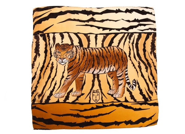 Men Wild Tiger - Square Scarf
