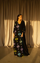 Al-Hadu Abaya (Black Crepe on Silk)
