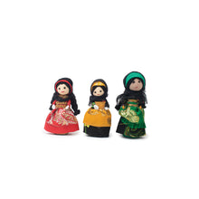 A collection of traditional Saudi dressed dolls