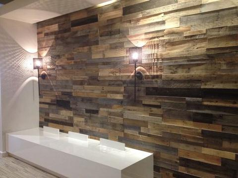 Versa wood wall with desk