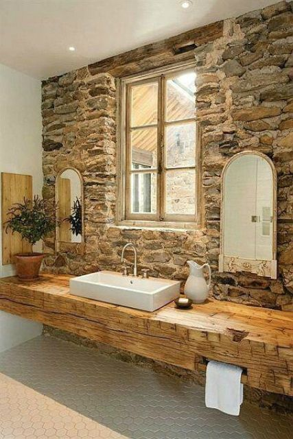 barn wood beams in home