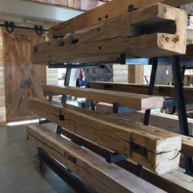 Reclaimed Barn Beam Mantels and Posts