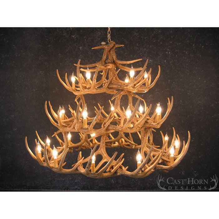 Whitetail 42 antler chandelier homestead timbers aloadofball Image collections