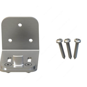 Lower Guide for Wood Door, Side-Mount, Adjustable, Stainless Steel