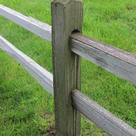 2 Hole Cedar Split Rail