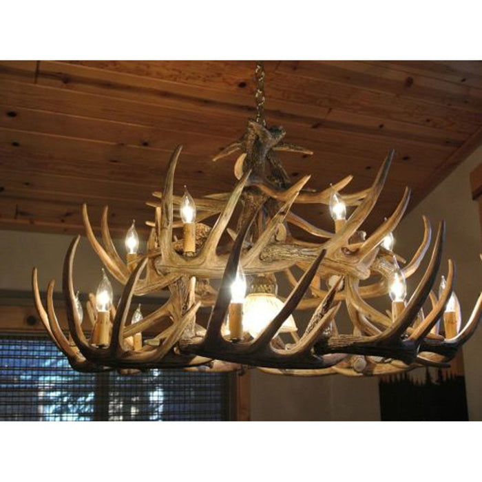 Whitetail 24 antler chandelier homestead timbers whitetail 24 antler chandelier aloadofball Images