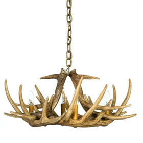 Whitetail 6 Antler Chandelier
