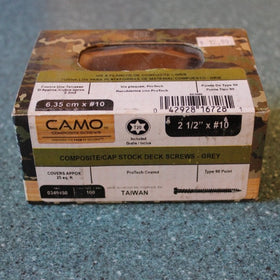 "2-1/2"" x #10 Camo Composite Deck Screws 100ct"