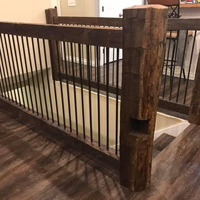 Reclaimed Barn Wood Railing Section - 8'