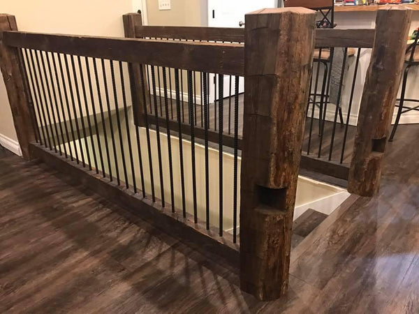Reclaimed Barn Wood Railing Section 8 Homestead Timbers