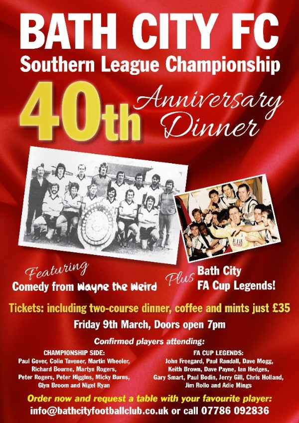 Southern League Championship 40th Anniversary Dinner