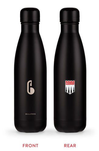 Bath City FC Official 'Bullfrog' Stainless Steel Water Bottle in Black – Limited Edition