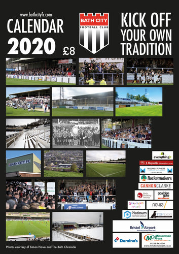 NEW! Bath City Calendar 2020